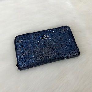 ❗️SALE❗️COACH ✨Glittery✨ Blue Wallet